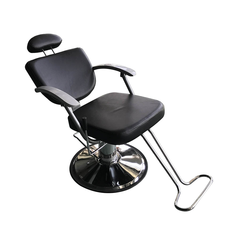 Delicieux Barber Pole Reclining Hydraulic Salon Chairs Station Beauty Spa Heavy Duty  Black
